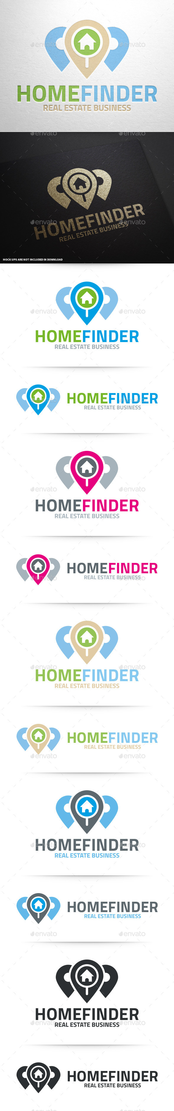 GraphicRiver Home Finder Logo Template 10135206
