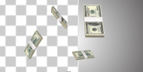 VideoHive Money Stack Of Dollars 10094786