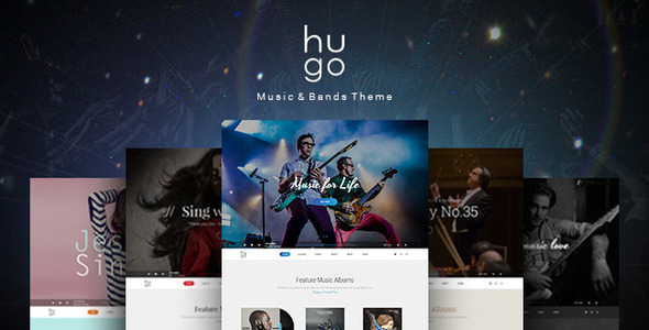 ThemeForest Hugo Music & Bands PSD Theme 10066018