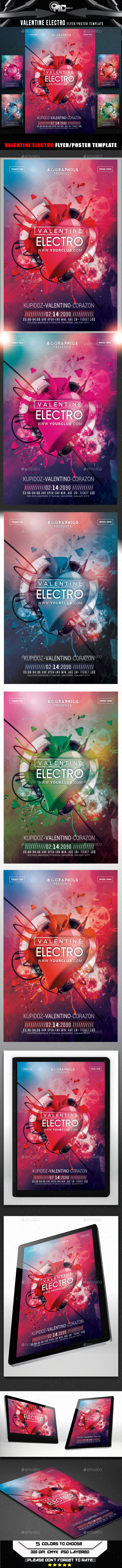 GraphicRiver Valentine Electro Flyer Template 10135227