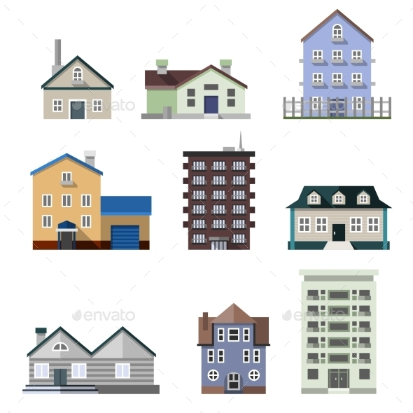 GraphicRiver Residential House Buildings 10135280