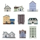 Residential House Buildings - GraphicRiver Item for Sale