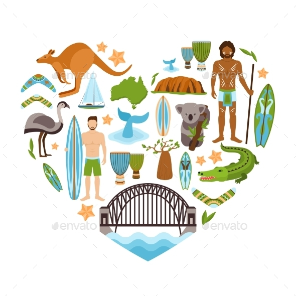 GraphicRiver Australia Heart Shape 10135284