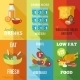 Healthy Eating Poster Set - GraphicRiver Item for Sale