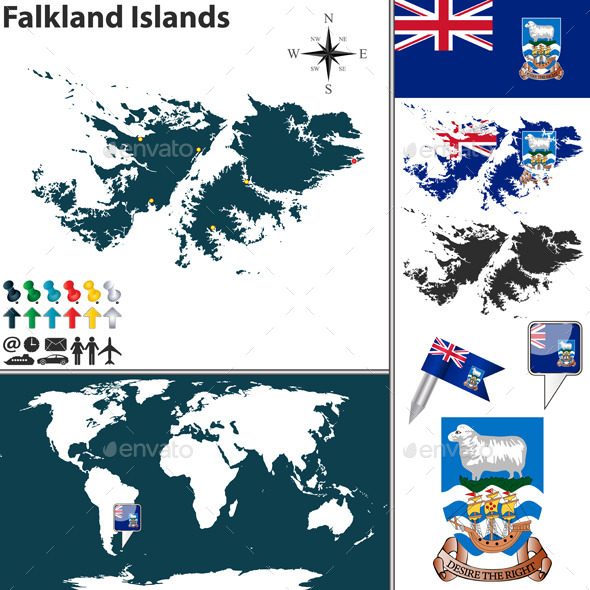 GraphicRiver Map of Falkland Islands 10135345