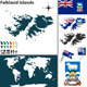 Map of Falkland Islands - GraphicRiver Item for Sale