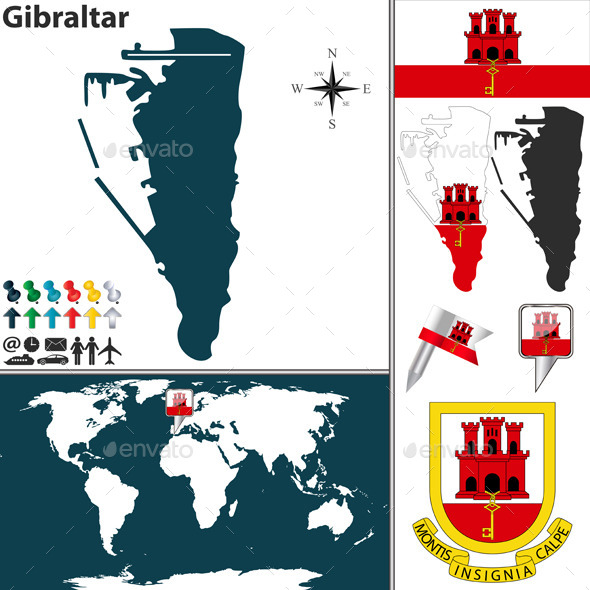 GraphicRiver Map of Gibraltar 10135358