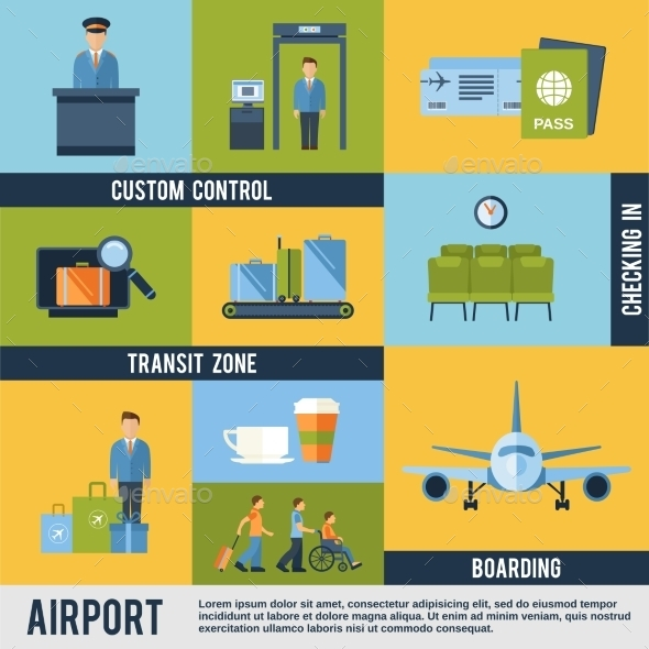 GraphicRiver Airport Icons Set 10135368