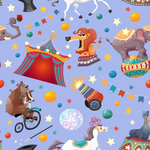 GraphicRiver Circus Seamless Pattern 10135388