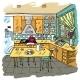 Kitchen Colored Sketch - GraphicRiver Item for Sale
