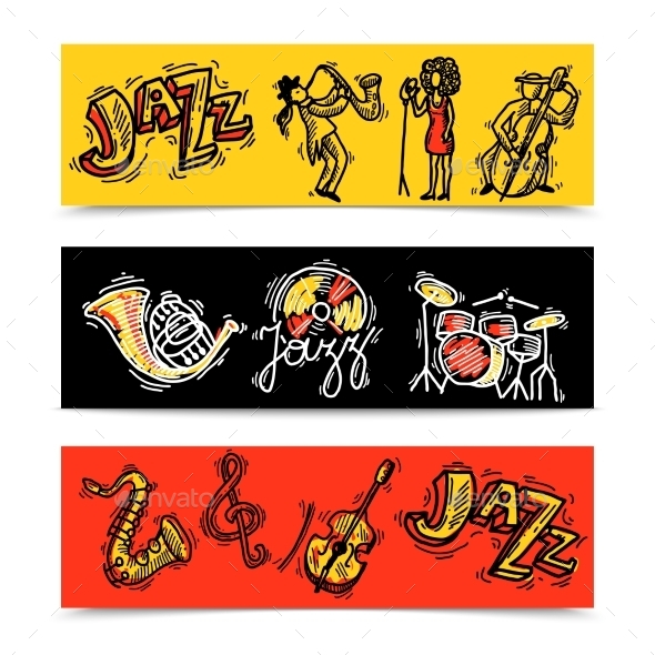GraphicRiver Jazz Banners Set 10135440