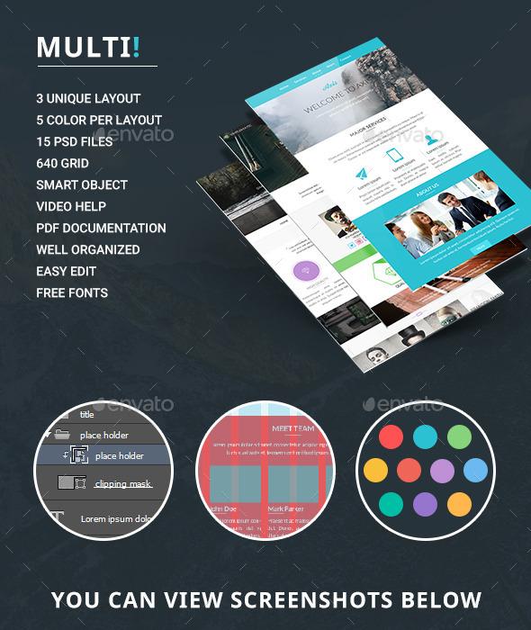 GraphicRiver Multi E-newsletter 10106783