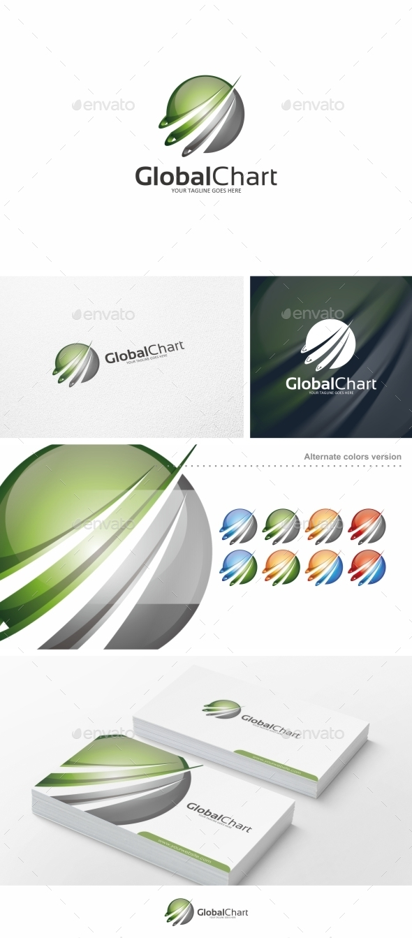 GraphicRiver Global Chart Logo Template 10135574