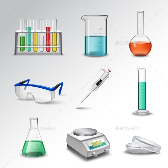 GraphicRiver Laboratory Equipment Icons 10135623