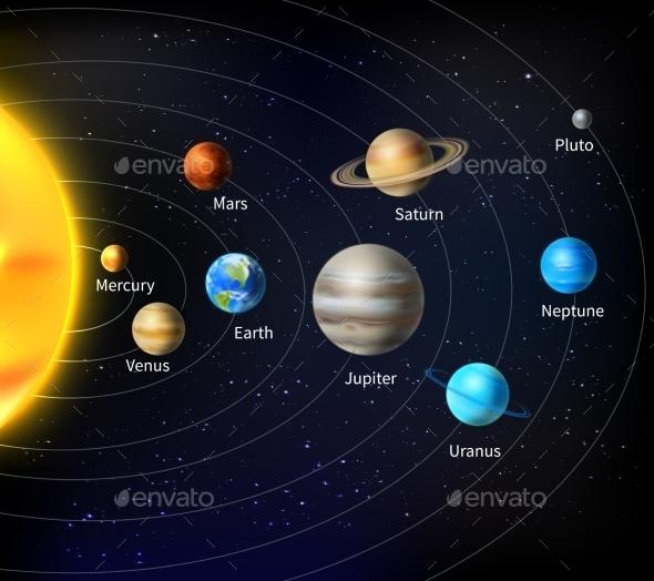 GraphicRiver Solar System Background 10135633