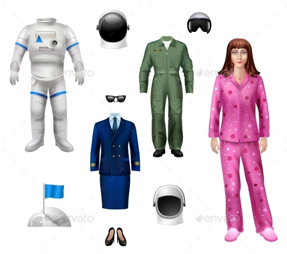 GraphicRiver Astronaut Girl Pack 10135638