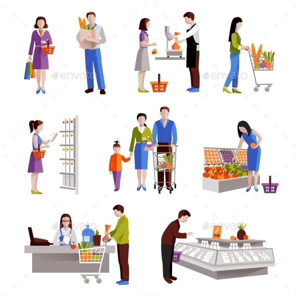 GraphicRiver People In Supermarket 10135649