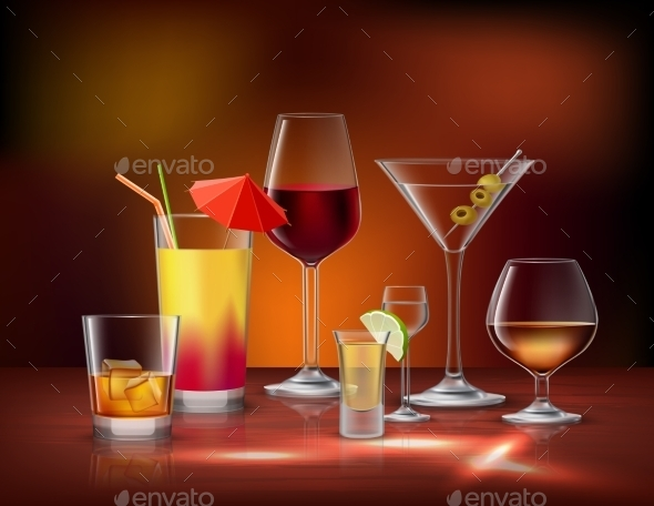 GraphicRiver Drinks Decorative Set 10135651