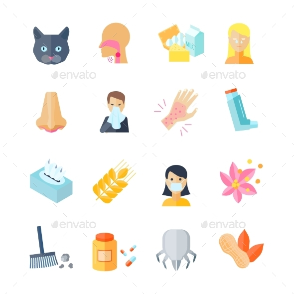 GraphicRiver Allergy Icon Flat 10135669