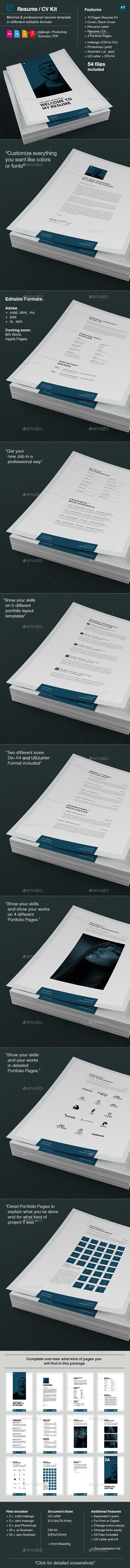 GraphicRiver Minimal Resume and CV 10135729