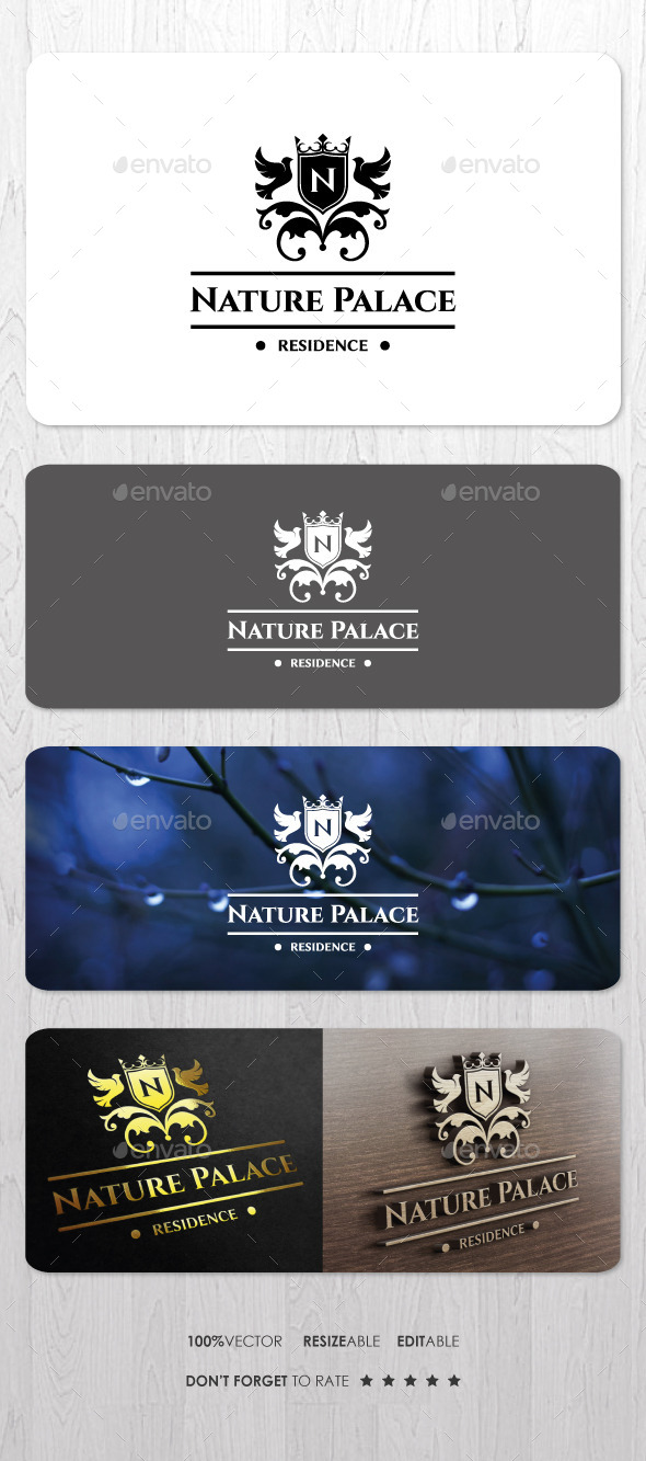 GraphicRiver Nature Palace Residence Logo 10135746