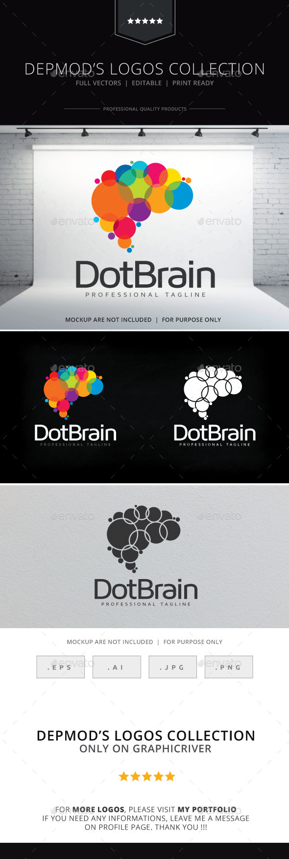 GraphicRiver Dot Brain Logo 10135770