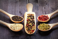 Mixed peppercorns in a wooden spoon - PhotoDune Item for Sale