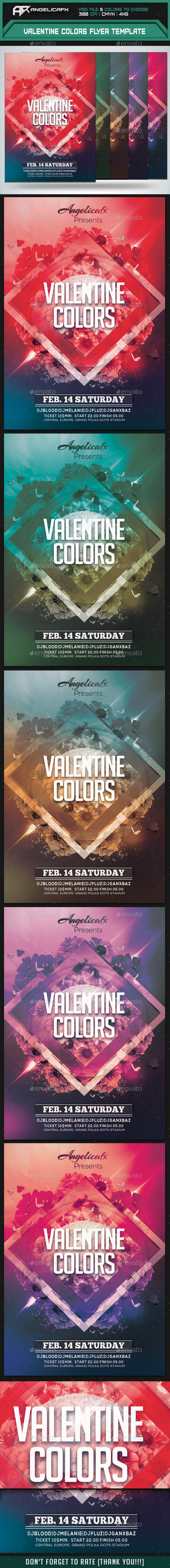 Valentine Colors Flyer Template