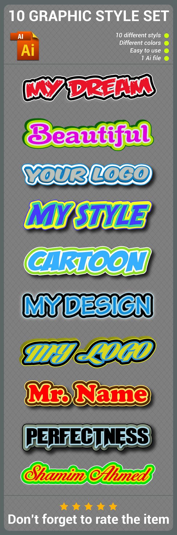GraphicRiver Logo Graphic Style Set 10091420