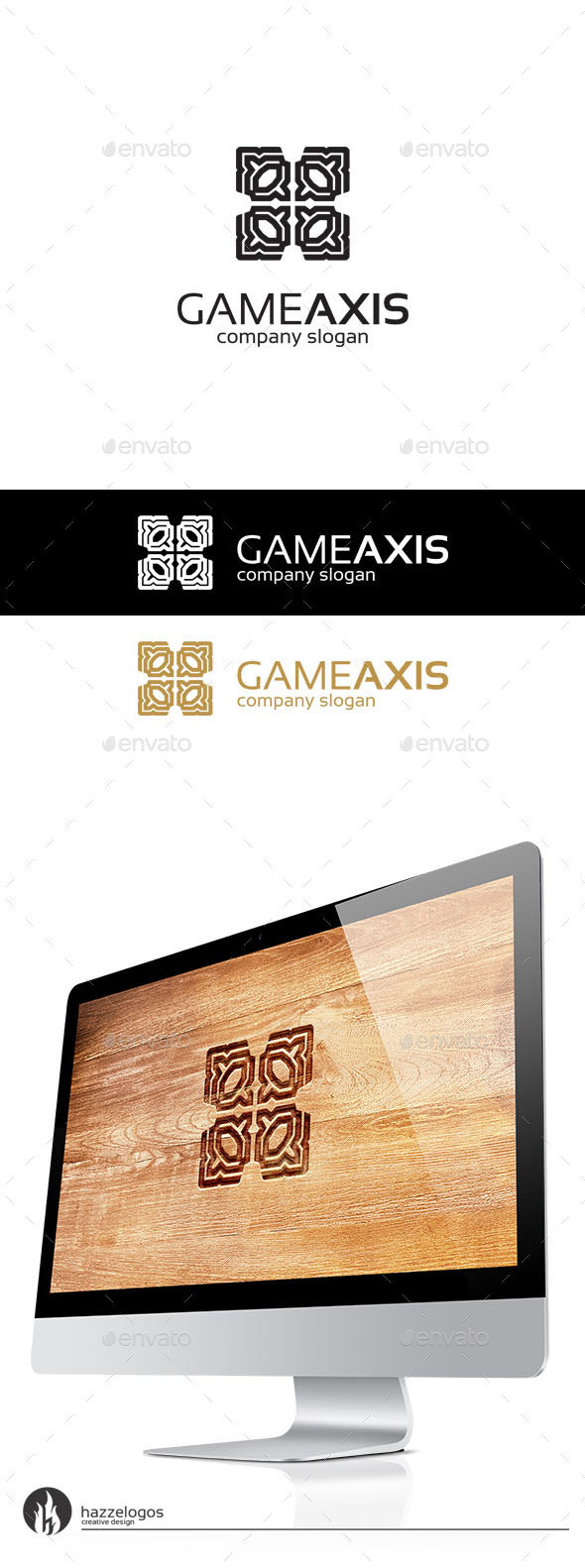 GraphicRiver Game Axis Logo 10135980