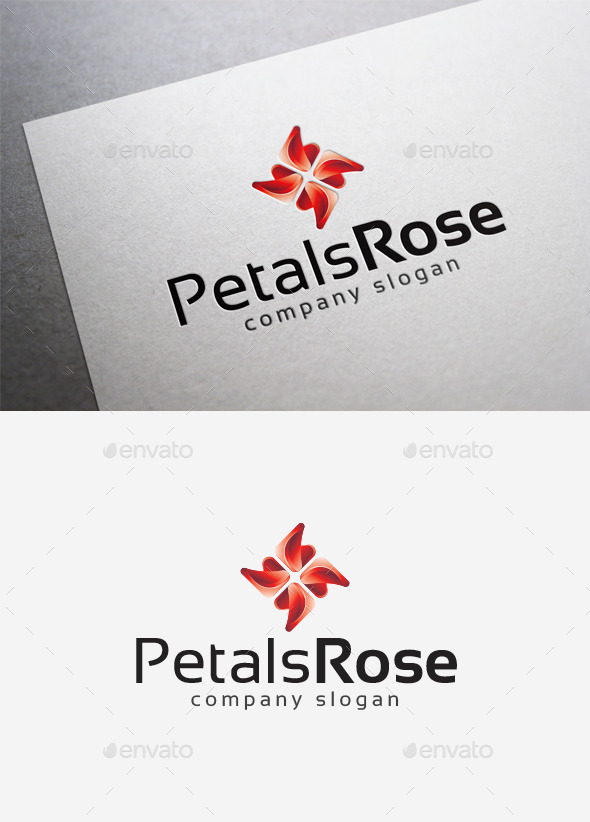 GraphicRiver Petals Rose Logo 10136862