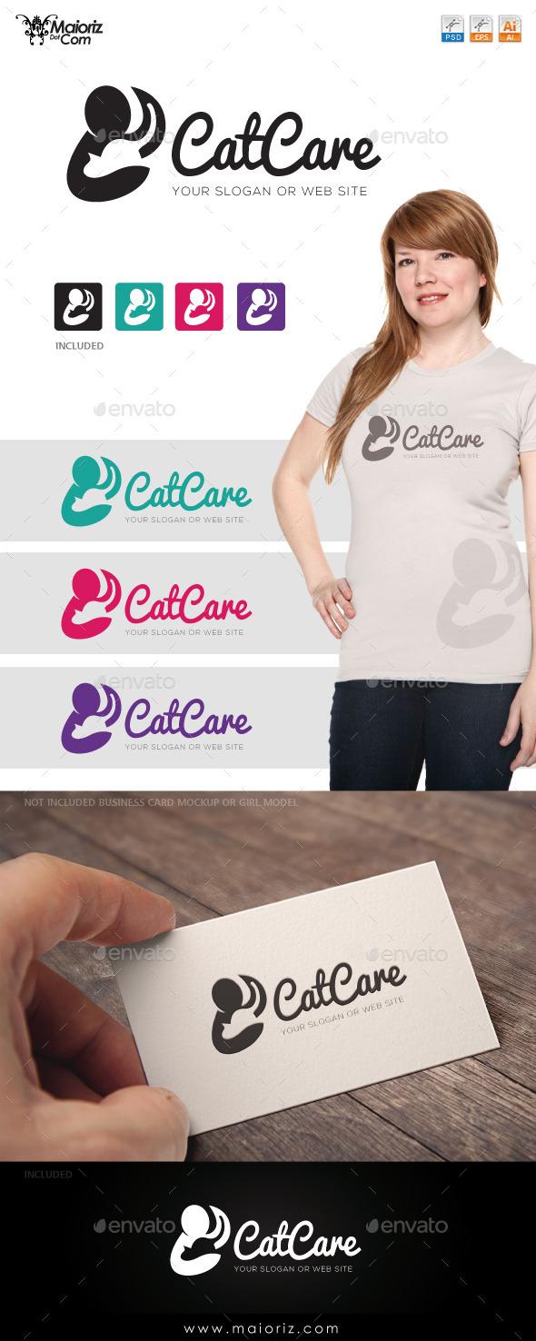 Cat Care Logo Templae