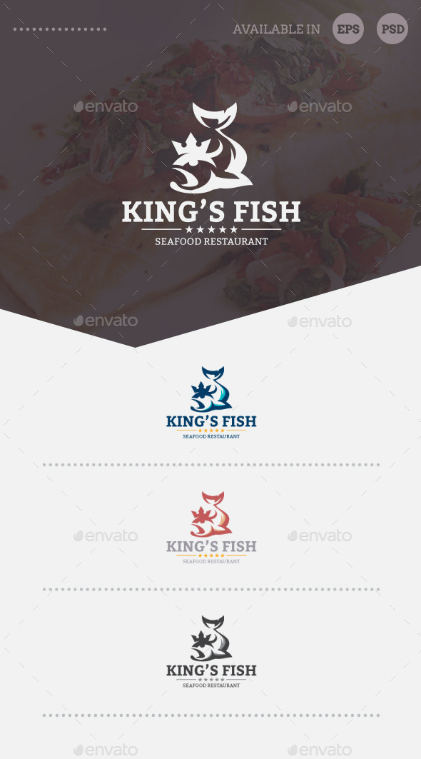 GraphicRiver King s Fish Logo Template 10137092