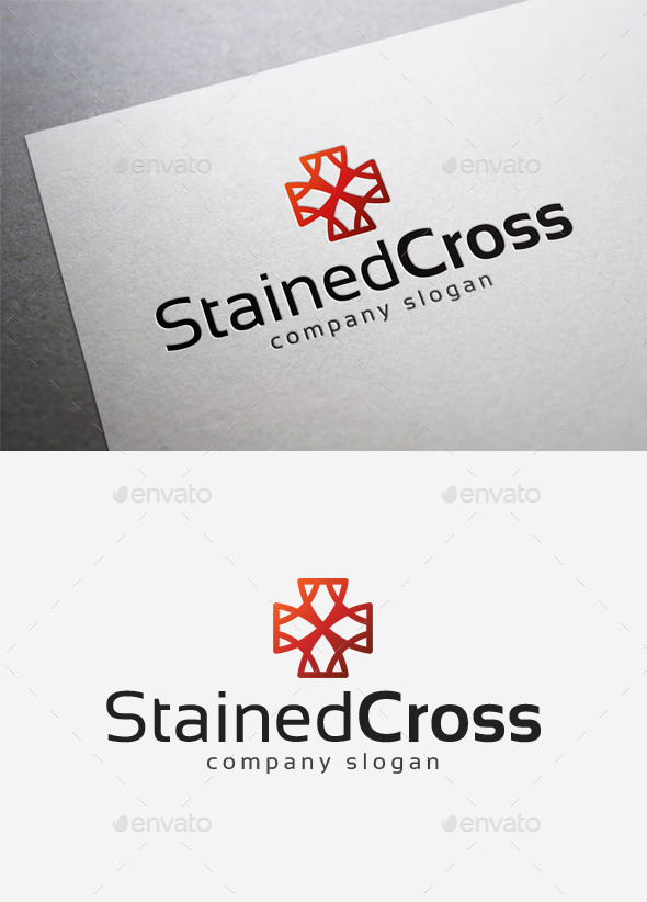 Stained Cross Logo