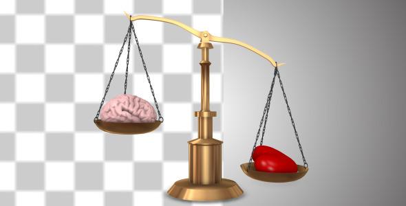 Heart And Brain On A Balance Scale V.2
