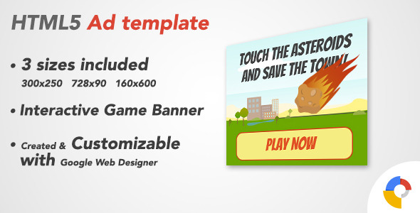 CodeCanyon Ad HTML5 Template Online Games 10137407