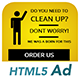 Ad HTML5 Template | Cleaning Service