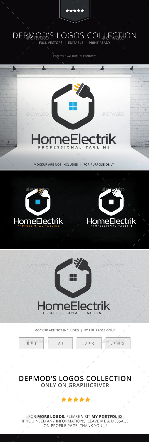 GraphicRiver Home Electrik Logo 10137628
