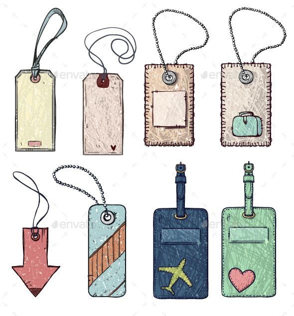 Set of Various Tags