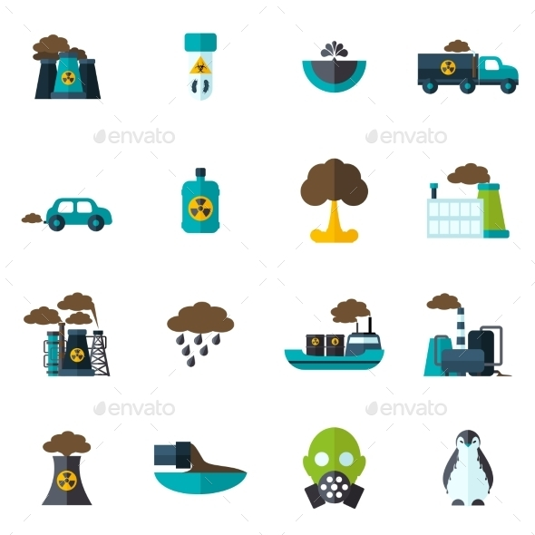 GraphicRiver Pollution Icon Flat 10137844