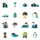 Pollution Icon Flat - GraphicRiver Item for Sale