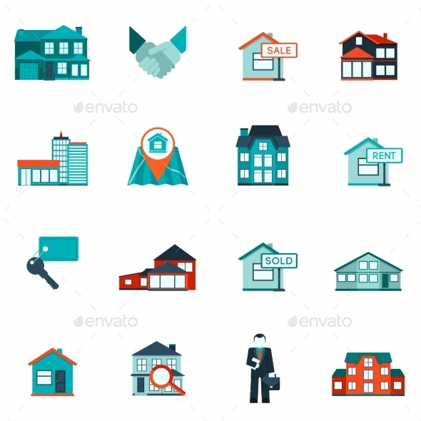 GraphicRiver Real Estate Icon Flat 10137980