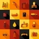 Oil Industry Icons Flat - GraphicRiver Item for Sale