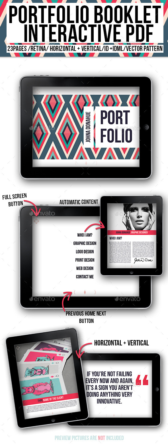 GraphicRiver Portfolio Booklet Interactive PDF 10138072