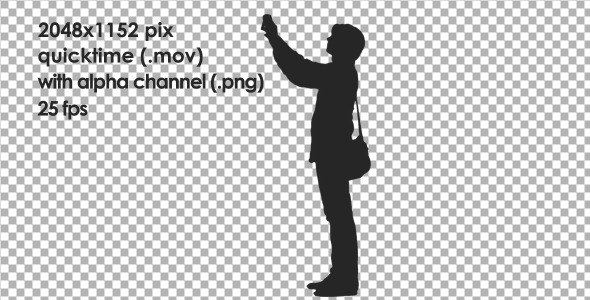 VideoHive Male Standing and Shooting on Phone 10138071