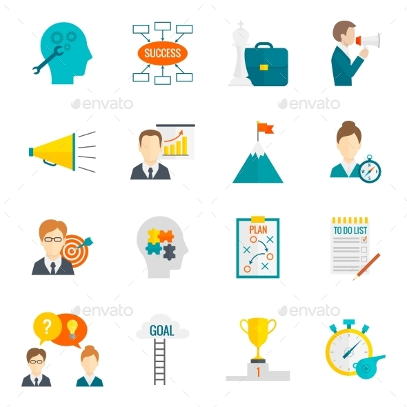 GraphicRiver Coaching Business Icons 10138073