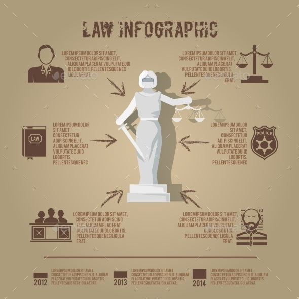 GraphicRiver Law infographic symbols icon poster 10138165
