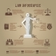 Law infographic symbols icon poster - GraphicRiver Item for Sale