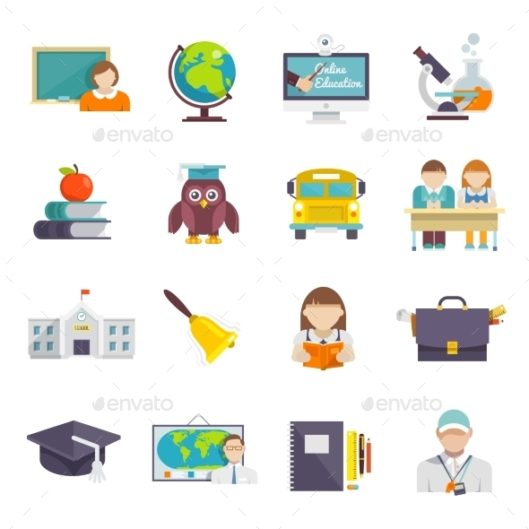 GraphicRiver School Icon Flat 10138181