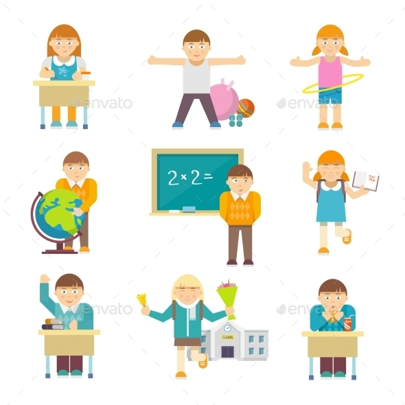 GraphicRiver Children at School 10138228